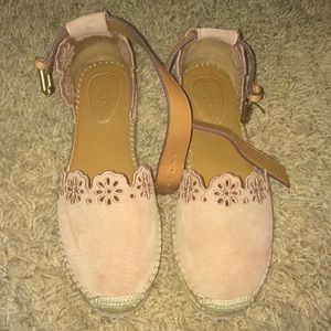 See by Chloe scalloped flower espadrilles